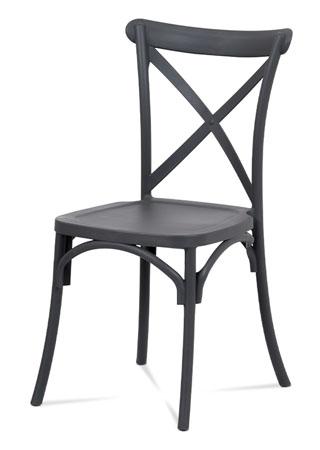 Jídelní židle, šedá plast
