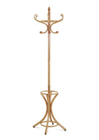 Věšák dřevěný, přírodní  odstín, v. 185 cm