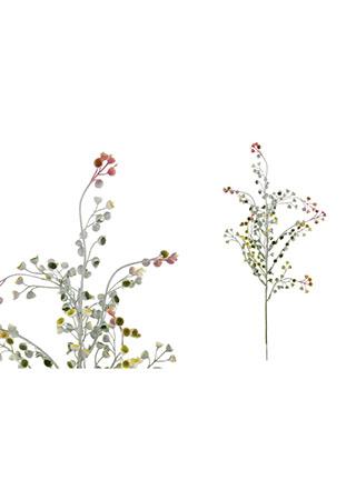 Květina umělá plastová. Barva lilo-růžová