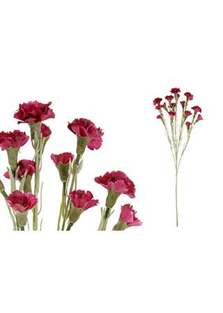 Mini karafiát, barva bordo. Květina umělá.