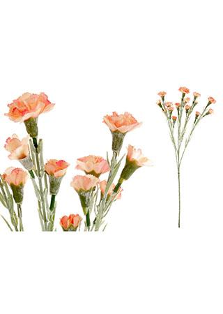 Mini karafiát, barva oranžová. Květina umělá.