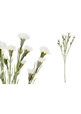 Mini karafiát, barva bílá. Květina umělá.