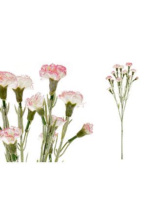 Mini Karafiát, barva bílo-růžová. Květina umělá.