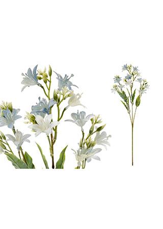 Květina umělá plastová. Barva modrá