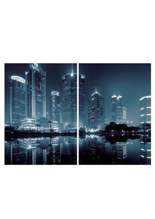 Obraz sada 2ks, motiv: černobílé město