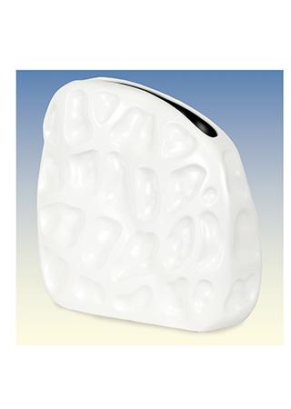 Váza keramická - bílá matná