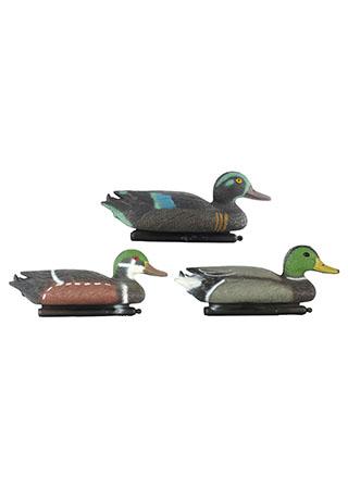 Kachna, plastová plovoucí zahradní dekorace, tři druhy