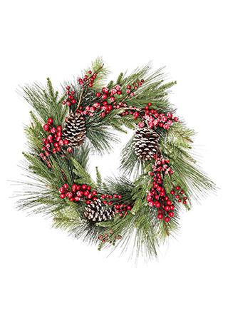 Věnec,  umělá vánoční dekorace