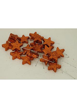 Vánoční hvězdička měděná. Cena za 1 polybag (20ks)