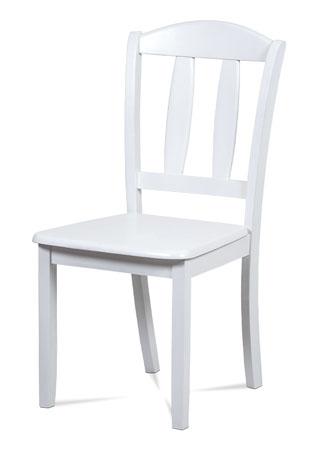 Jídelní židle celodřevěná, barva bílá