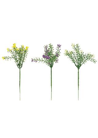 Kvetoucí travina. Květina umělá plastová.