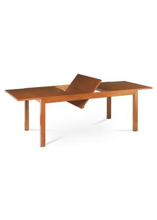Jídelní rozkládací stůl, 180+58x95x75 cm, MDF, přírodní dýha, moření světlá třešeň