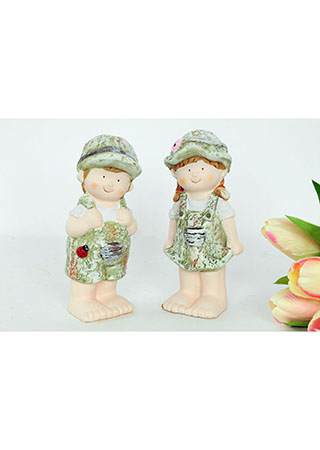 Chlapec nebo děvče, MgO zahradní keramická dekorace, cena za 1 kus