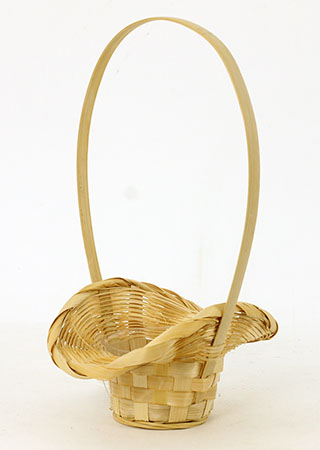 Obal bambusový s uchem, bílá barva