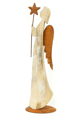 Andělíček, dřevěná vánoční dekorace