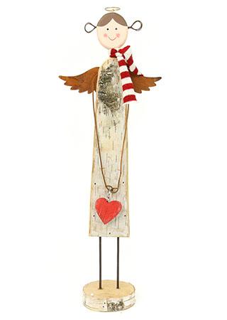 Anděl, dřevěná vánoční dekorace