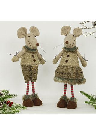 Myšák a myška, textilní dekorace, cena za jeden kus