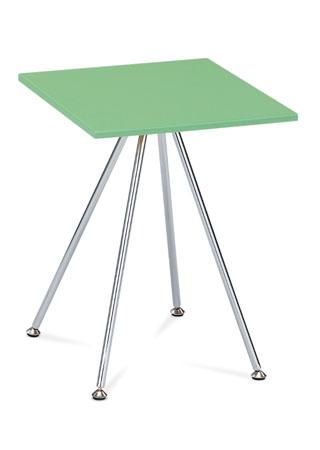 Konferenčný stolík, 40x40x52, vysoký lesk zelený, chróm 83467-02 LIM