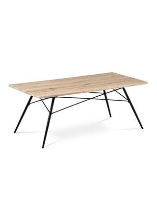 Konferenčný stolík, MDF san remo, kov čierny mat AF-2070 SRE