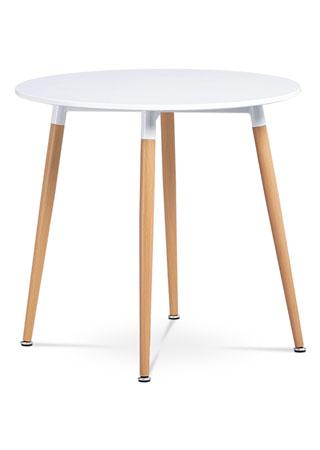 Jedálenský stôl, biela matná MDF DT-608 WT