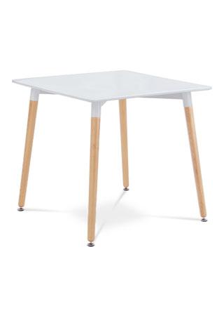 Jedálenský stôl 80x80cm, biely, natural DT-706 WT1