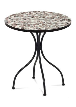 Kovový stôl s mozaikou na doske JF2206
