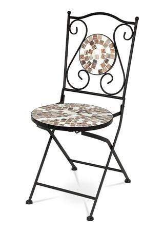 Kovová stolička s mozaikou - rovnaká ako na stole JF2206!!!! JF2207