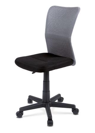 Kancelárska stolička, látka sivá / čierna KA-BORIS GREY