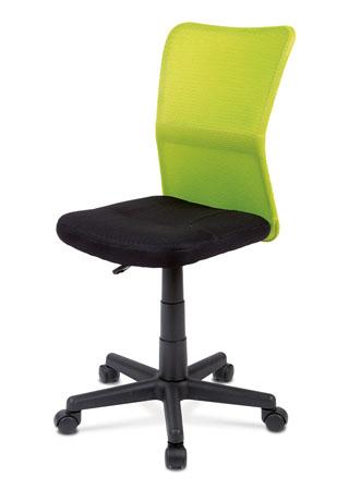 Kancelárska stolička, látka zelená / čierna KA-BORIS GRN