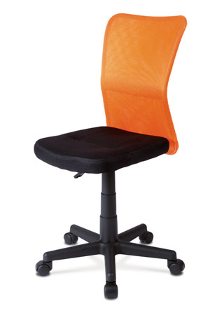 Kancelárska stolička, mesh oranžový / čierny KA-BORIS ORA