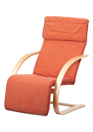 Relax kreslo s výklopnou podnožou, natural drevo, látka terra QR-31 NAT