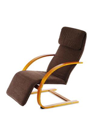 Relax kreslo s výklopnou podnožou, čerešňa drevo, látka hnedá QR-31 TR2