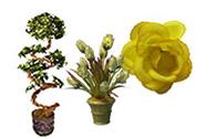 Umelé kvety a stromy