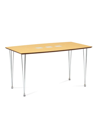 Jedálenský stôl BORAT135x80cm orech, chróm WD-5909 NAT